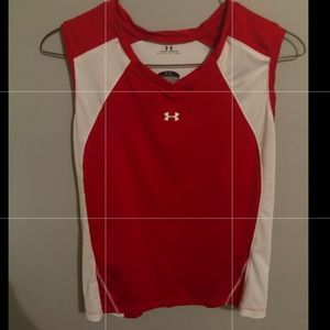 Under Armour Tops - Under Armour large red sleeveless top